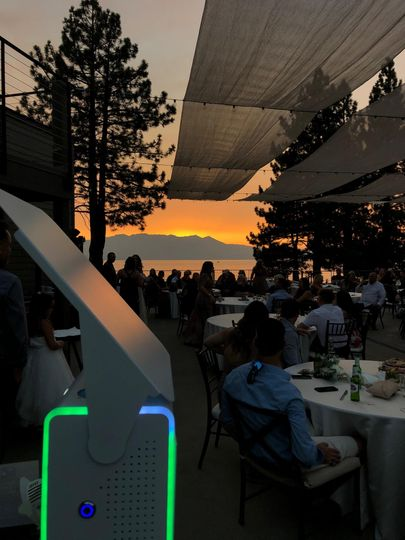 NEW Open Booth Sunset