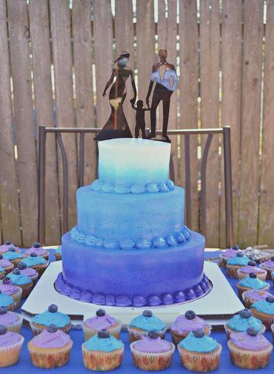 Layered wedding cake