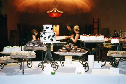 The guests loved this dessert display, featured in the wine cave!