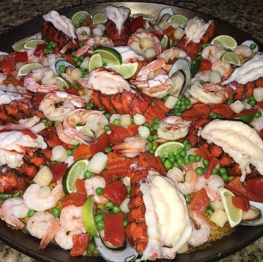 Paella Valenciana with Lobster