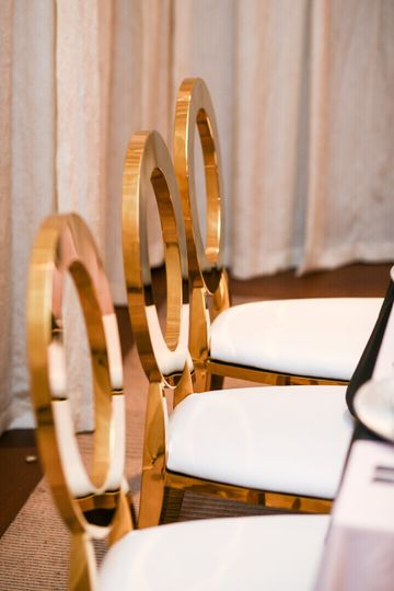 Gold Metal Chairs