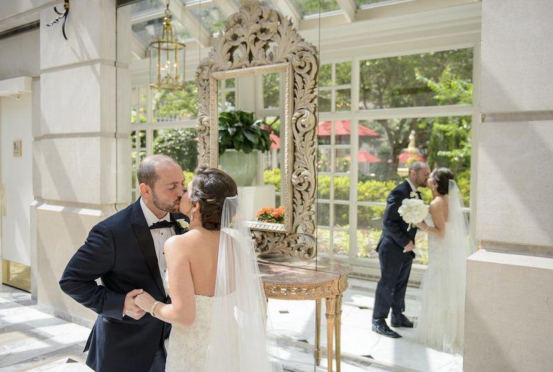 Stunning shot couple wedding