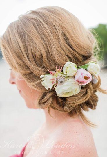 Bridal hair updo | PC: Karen Louden