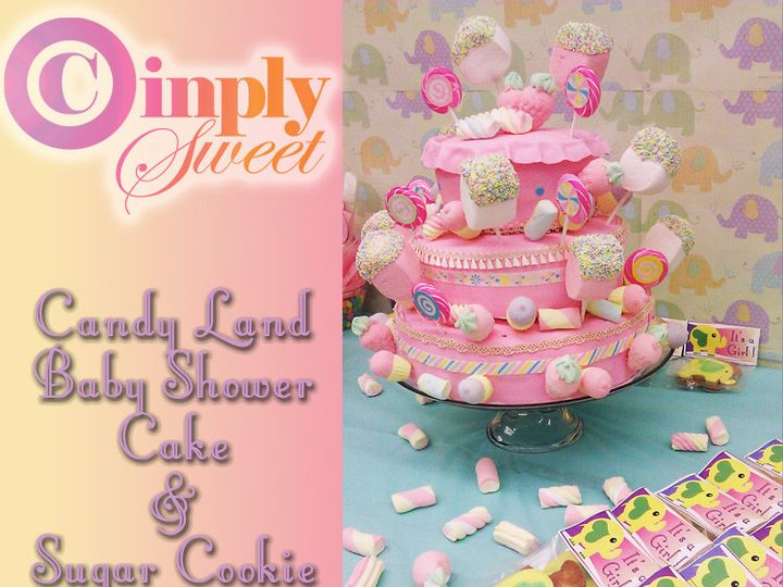 Tmx 1443014861788 Baby Shower Candy Land Cake San Antonio wedding cake