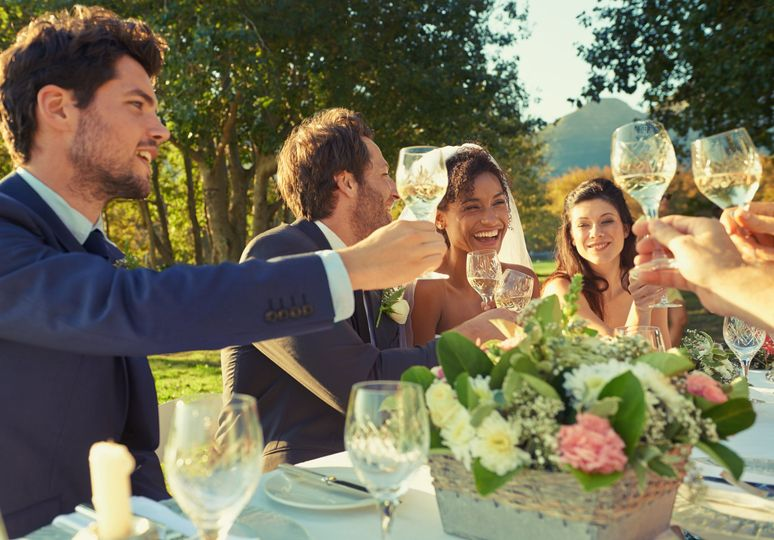 Toasting the newlyweds