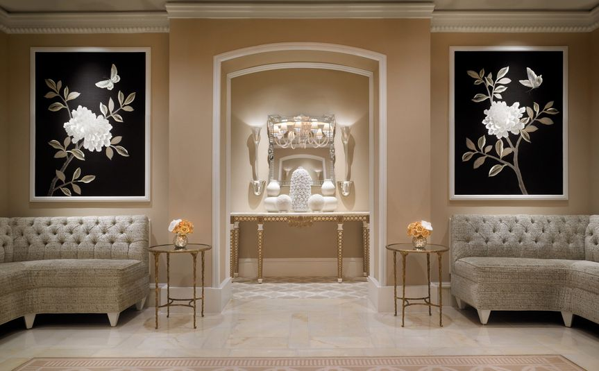 A beautiful foyer for your guests to mingle before your ceremony.