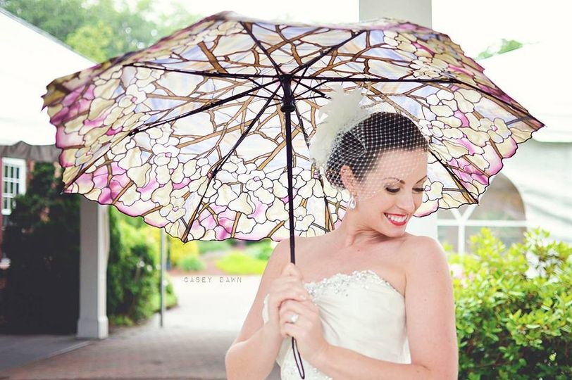 Bride with her umbrella