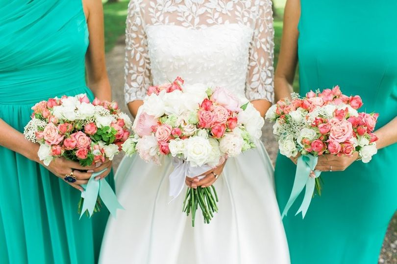 romantic, bridal flowers, garden roses