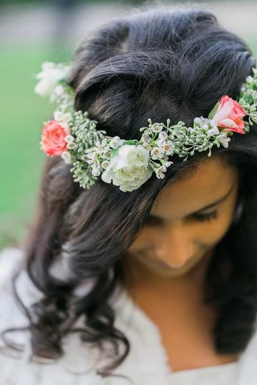 romantic floral crown, flower girl