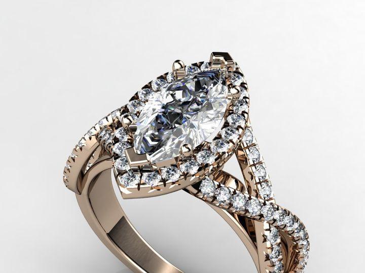 Tmx 1364001202468 1ctmarquiserosegoldengagementring Chicago wedding jewelry