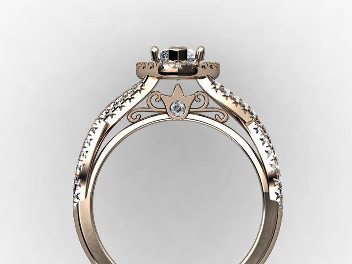 Tmx 1364001217462 1ctmarquiserosegoldengagementringside Chicago wedding jewelry