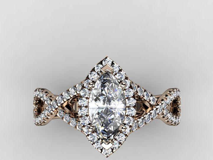 Tmx 1364001255323 1ctmarquiserosegoldringtop Chicago wedding jewelry