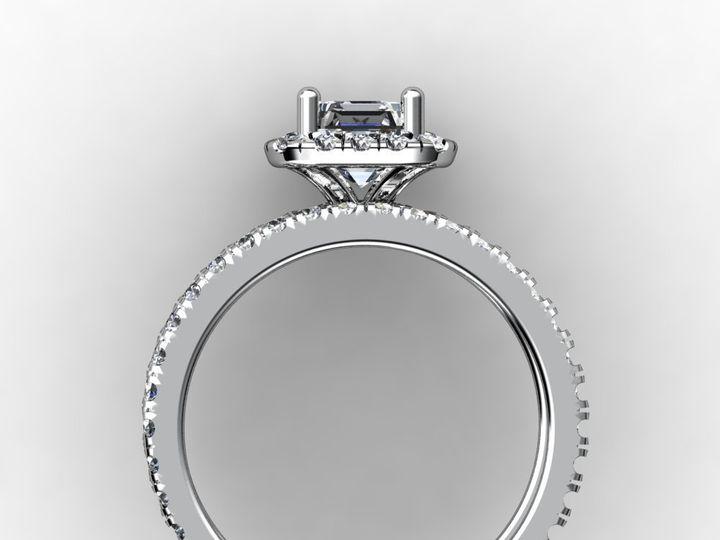 Tmx 1364001371361 1.5cthaloweddingbandengagementringsetwhitegoldside Chicago wedding jewelry