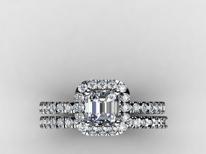 Tmx 1364001383241 1.5cthaloweddingbandengagementringsetwhitegoldtop Chicago wedding jewelry