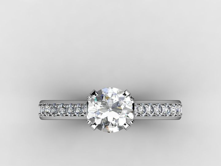 Tmx 1364001398634 1.5ctwhitegoldcustomdiamondengagementring Chicago wedding jewelry