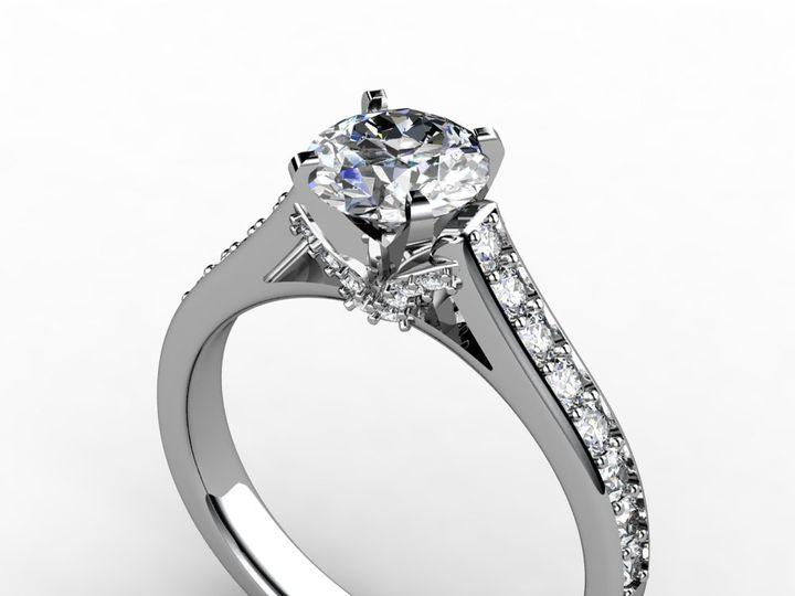Tmx 1364001416997 1.5ctwhitegolddiamondengagementring Chicago wedding jewelry