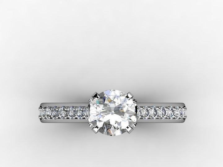 Tmx 1364003473093 1.5ctwhitegolddiamondengagementringtop Chicago wedding jewelry