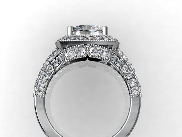 Tmx 1364003516675 2cthalowhitegoldengagementring1 Chicago wedding jewelry