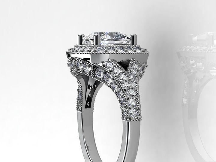 Tmx 1364003537654 2cthalowhitegoldengagementringside Chicago wedding jewelry