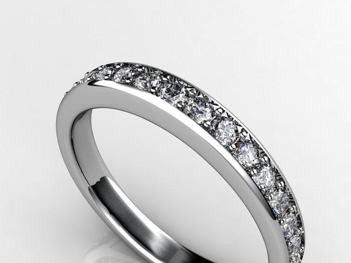 Tmx 1364003586813 Customdesigneddiamondweddingbandwhitegold Chicago wedding jewelry