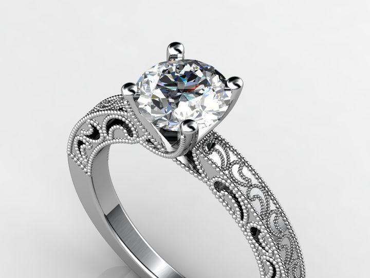 Tmx 1364003620991 Customwhitegoldengagementring1.75ct Chicago wedding jewelry