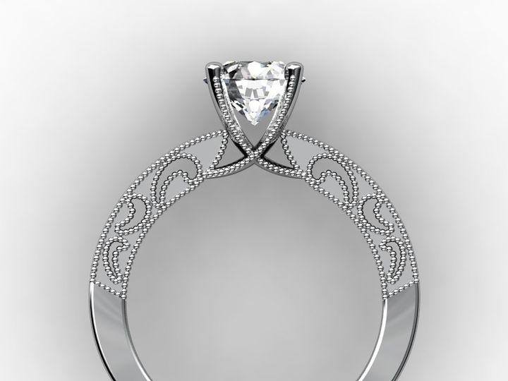 Tmx 1364003644288 Customwhitegoldengagementring1.75ctside Chicago wedding jewelry