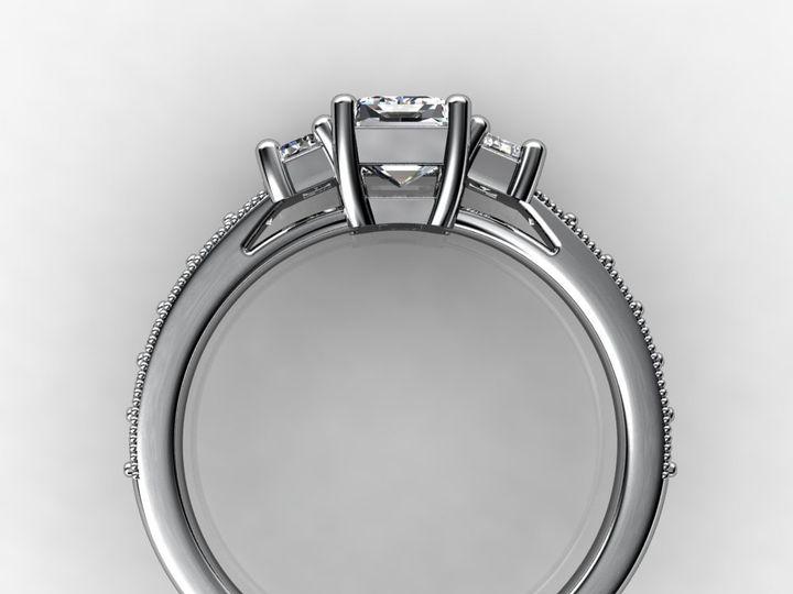 Tmx 1364003760825 Threestoneemerald1ctwhitegoldring Chicago wedding jewelry