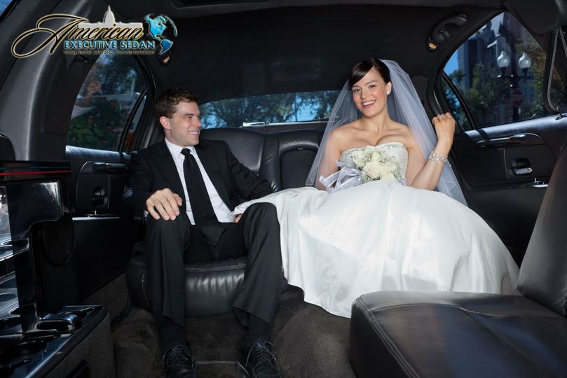 Couple in the limo