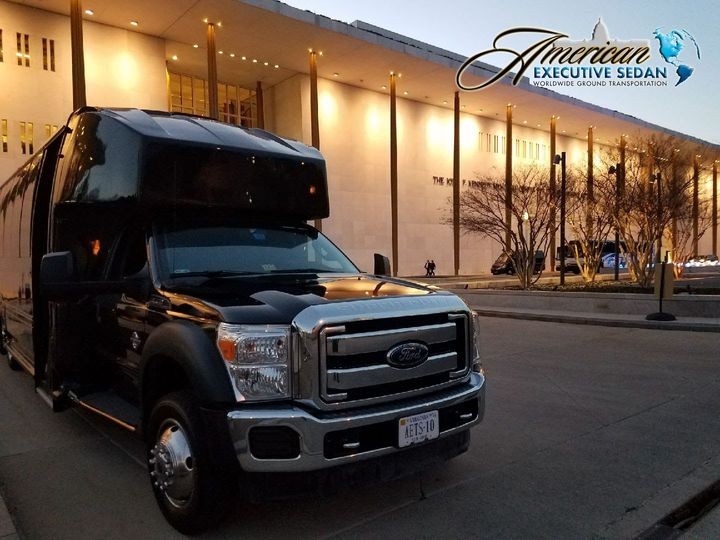 Tmx 1491926198649 Aesedan Minibus Outside Building1 Copy Sterling, District Of Columbia wedding transportation
