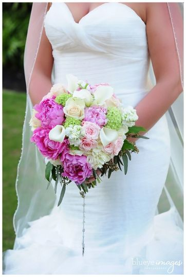 Bride with her bouquet