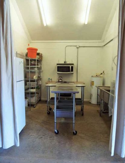 Commercial kitchen.