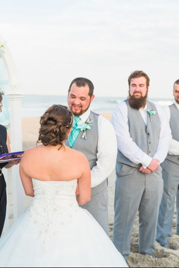 Couple's exchange of vows