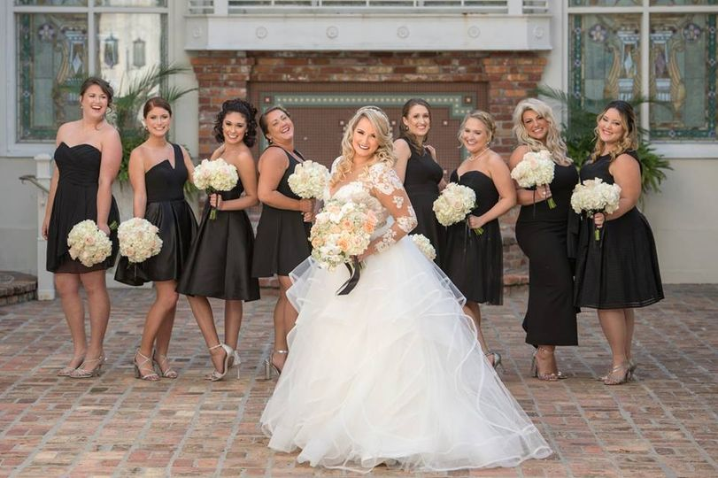 The orchid garden bridal party