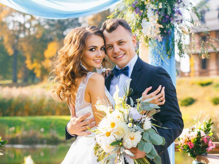 Tmx Creative Stylish Wedding Ceremony Elegant Curly Bride And Groom Outdoors On The Background The Lake 51 149525 Orlando, FL wedding beauty