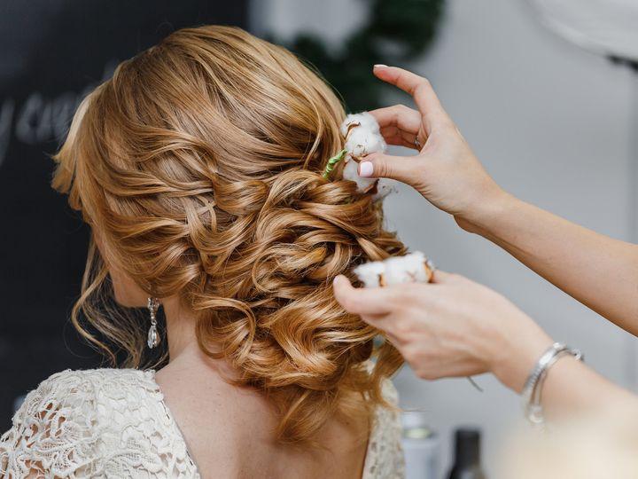 Tmx Hair Stylist Or Florist Makes The Bride A Wedding Hairstyle With Fresh Cotton Flowers 51 149525 Orlando, FL wedding beauty