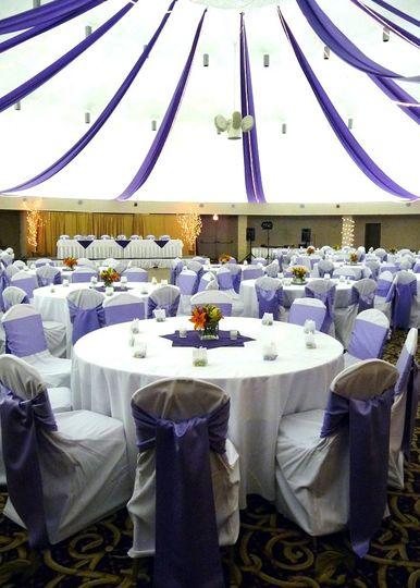 dome purple wedding