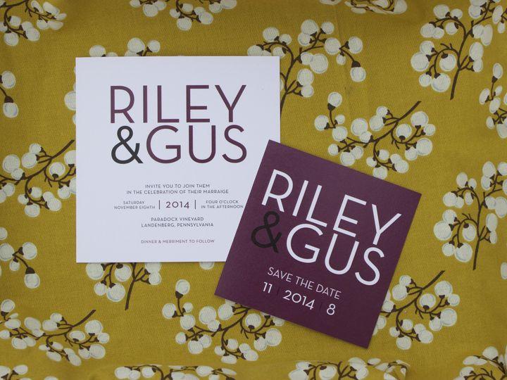 Tmx 1447773837325 Rileygus Newark, DE wedding invitation