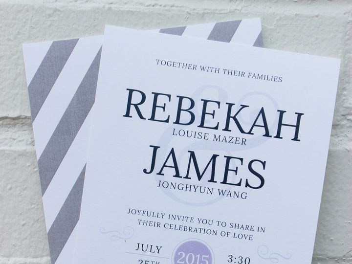 Tmx 1447773910913 Wang Newark, DE wedding invitation