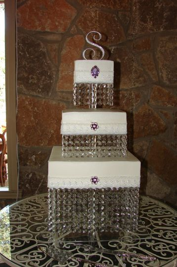 Square stacked cake