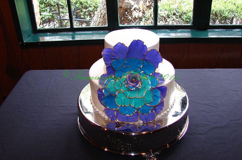 Blue flower decor