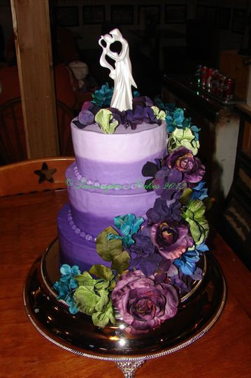 Colorful cake with purple theme