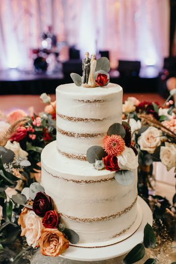 Cake display at reception