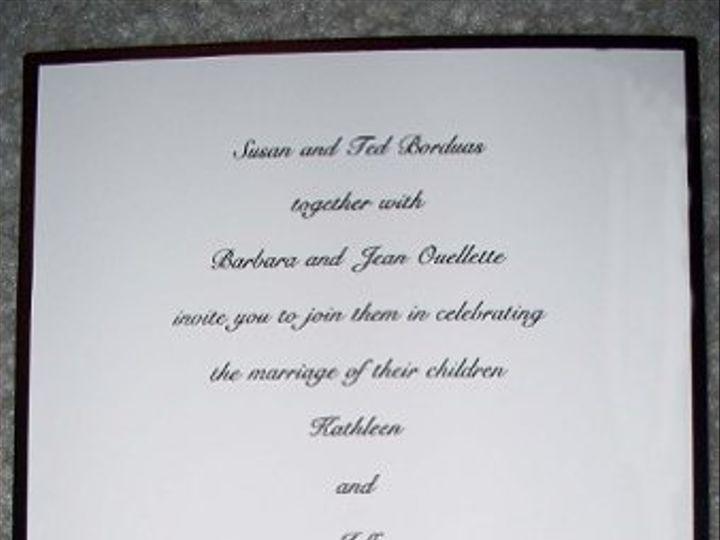Tmx 1210945518374 Kathyinvite Reston wedding invitation