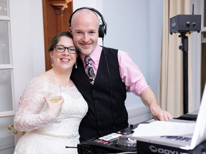 Tmx Jacklyn And I Behind Booth 51 792625 1566356768 Saco, ME wedding dj