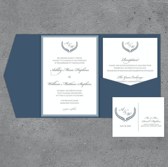 Traditional Pocketfold Wedding Invitation Suite