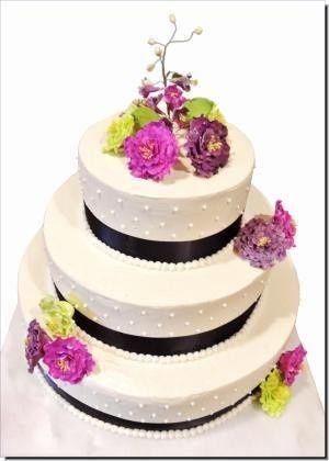 peony wedding cake