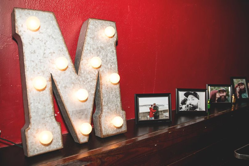 M with lights