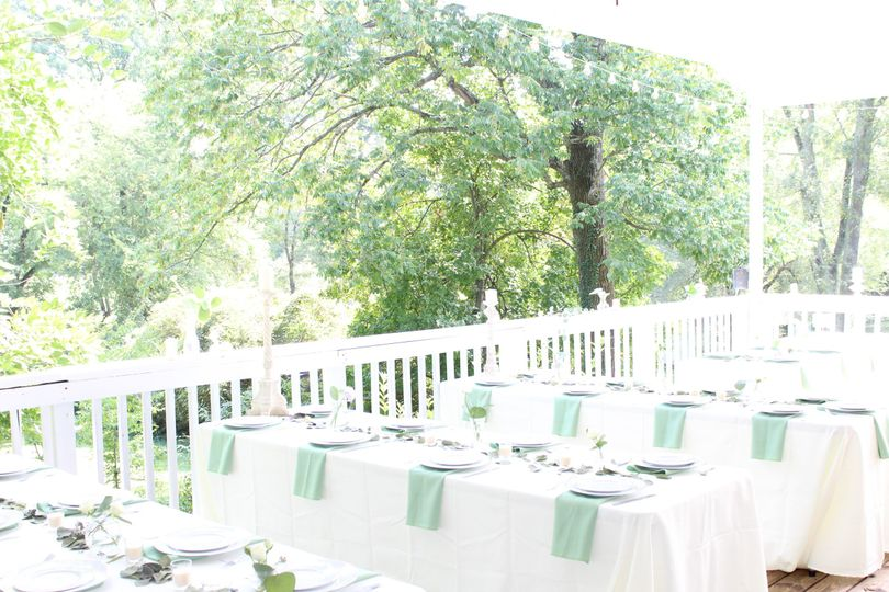 A balcony reception