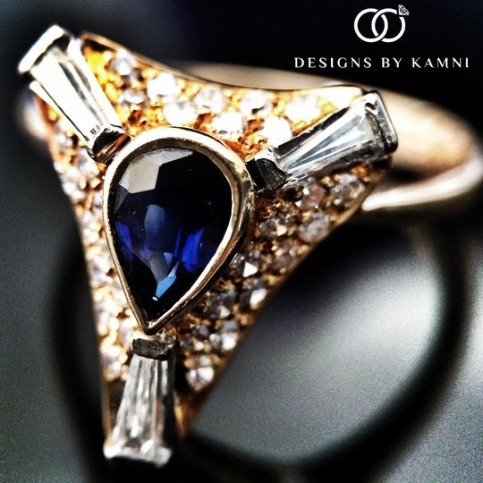 vintage 18k sapphire ring