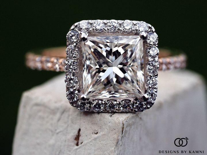 Tmx 1418176791235 Princess 2 Tone With Halo Plus Logo Hicksville, NY wedding jewelry